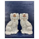 STAFFORDSHIRE STYLE PAIR OF DOGS