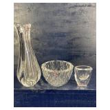 3 PIECE ORREFORS CRYSTAL LOT