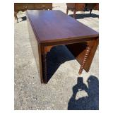 LARGE WALNUT EARLY DROPLEAF TABLE