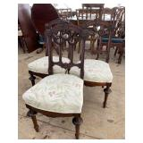 3 CARVED VICTORIAN CHAIRS