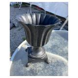CAST IRON FOOTED URN