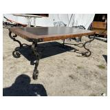 IRON AND SLATE MIDEVIL COFFEE TABLE
