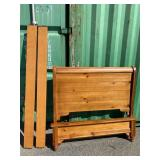 MODERN PINE BED FULL SIZE WITH RAILS