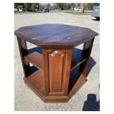 SOLID CHERRY 2 TIER TABLE