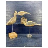 3 LARGE SHORE BIRDS ON STANDS