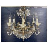 CRYSTAL AND METAL CHANDELIER