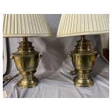 PR OF STIFFEL BRASS URN LAMPS