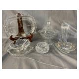 8 pc CLEAR GLASS LOT