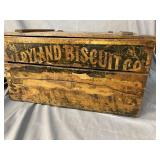 OLD WOODEN BISCUIT BOX