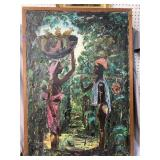 AFRICAN SIGNED PAINTING