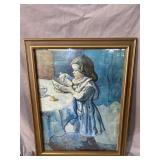GIRL WITH MIXING BOWL PICASSO PRINT