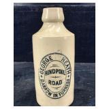 GEORGE HEATH HINDPOOL ROAD POTTERY BEER BOTTLE