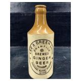LEE & GREEN LIMITED BREWED GINGER BEER POTTERY