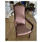 GRAPE CARVED VICTORIAN ARM CHAIR