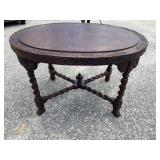 WALNUT HEAVY CARVED CENTER TABLE