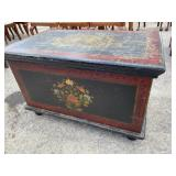 PAINT DECORATED BLANKET BOX