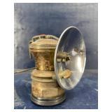 ANTIQUE COAL MINERS AUTO LITE CARBIDE LAMP WITH