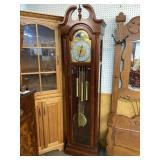 RIDGEWAY CHERRY GRANDFATHER CLOCK WORKING