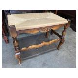 COUNTRY FRENCH RUSH STOOL;