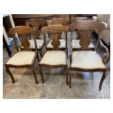 SET OF 6 CHERRY PA HOUSE CHAIRS