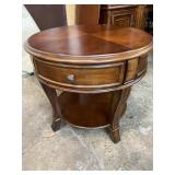 HOOKER ROUND END TABLE