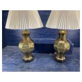 PR OF ETHAN ALLEN LARGE BRASS LAMPS