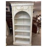 Ex LARGE CARVED OPEN BOOKCASE