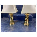 PR OF QUALITY BRASS LAMPS