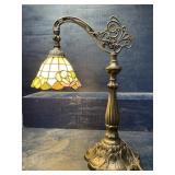TIFFANY STYLE ADJUSTABLE TABLE LAMP