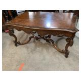 LARGE BURLED TOP DESIGNER  COFFEE TABLE