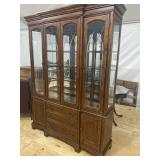 EXCEPTIONALLY CLEAN CHERRY CHINA CLOSET