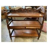 SOLID MAHOGANY CARVED SERVER