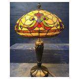 SIGNED DALE TIFFANY LARGE TABLE LAMP