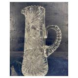 ANTIQUE AMERICAN BRILLIANT STARBURST CUT GLASS