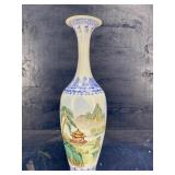 HAND PAINTED EGG SHELL TALL VASE
