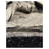 1971 WORCESTER PEWTER ARTIST SIGNED ON MARBLE