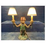 MONKEY CANDELABRA 2 LIGHT LAMP