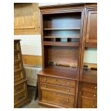 STANLEY, CHERRY FILE CABINET WITH HUTCH TOP