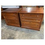 PR OF STANLEY CHERRY FILE CABINETS