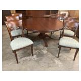 60 in CHERRY ROUND TABLE AND 6 CHAIRS