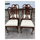 SET OF 4 SOLID CHERRY PA HOUSE CHAIRS