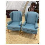 PR OF SAM MOORE QUEEN ANNE WINGBACK CHAIRS