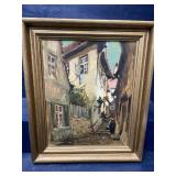 MID CENTURY SIGNED O H E PAINTING