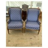 PAIR OF CENTURY FRENCH WING BACK CHAIRS