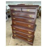 SUMTER CABINET COMPANY CHERRY CHEST ON CHEST