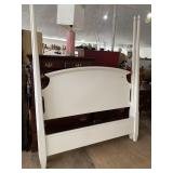 AMERICAN DREW WHITE TALL POSTER QUEEN SIZE BED