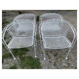 SET OF 4 IRON BARRELL BACK CHAIRS