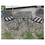 IRON TABLE AND 2 CHAIRS
