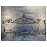 LARGE WROUGHT IRON PLATE AND CUP HOLDER