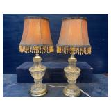 PAIR OF CUT CRYSTAL LAMPS WITH SHADES